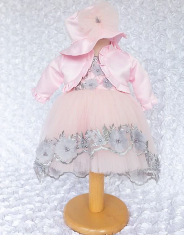 Rochita botez Carina roz