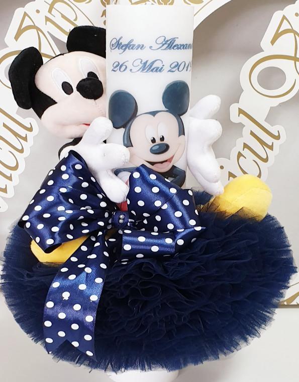 lumanare de botez mickey mouse