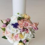 Lumanare botez floricele fermecate