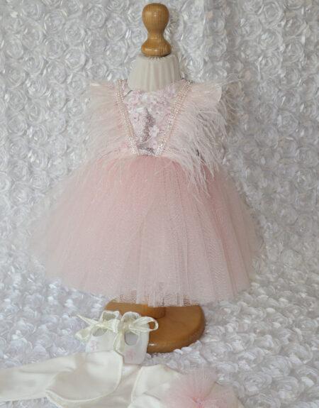 Rochita botez Adelina roz