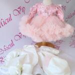 Rochita botez Carolina roz pudra