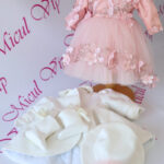 Rochita botez Aurelia roz pudra