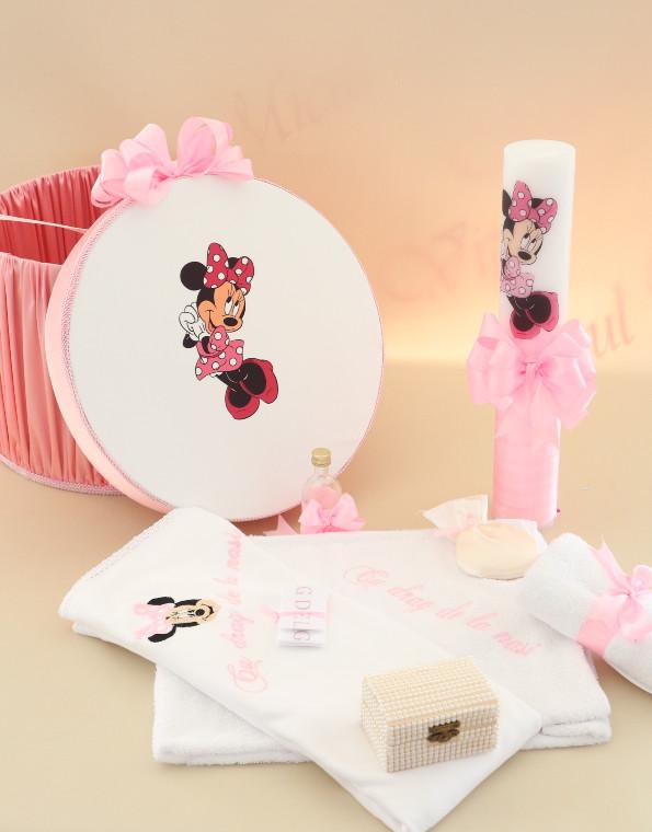 Pachet trusou botez minnie mouse roz